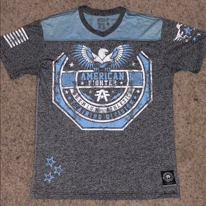 Men's American fighter T-shirt.